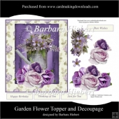 Garden Flower Topper and Decoupage
