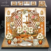 Wooden Garden with White Lilies Card Mini Kit