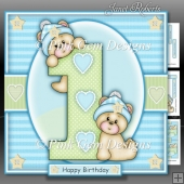 1st Birthday Bears Boy Mini Kit