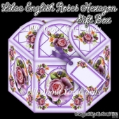 Lilac English Roses Hexagon Gift Box