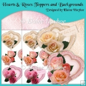 Hearts & Roses Toppers and Backgrounds