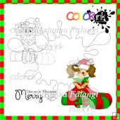 Candy Mary and sentiment Digi stamp