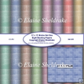 Brick Wall Set One Eight Assorted Pastel Sheets Of 12 x 12 BP