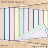 Hearts n Dots 8x8 Papers Set 2