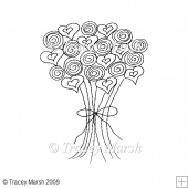 Wedding Bouquet Clipart - Digital Stamp
