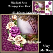 Woodland Roses Decoupage Card Front