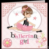 Ballerina Girl 2 Card Set