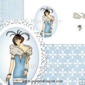 RTP Oval Frilly Die Cutting Lady 3(Retiring in August)