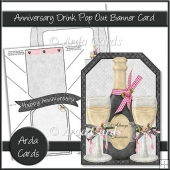 Anniversary Drink Pop Out Banner Card
