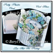 Pretty Planter Card - Cool Blues