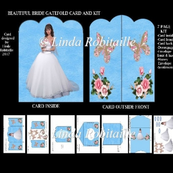 Beautiful Bride Gatefold Card and Kit