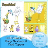 GSD PNC Baby Newborn 3 Card Topper/Front Cutting File