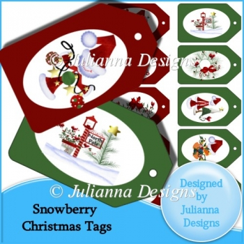 Snowberry Christmas Tags