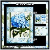 Blue Hydrangea Topper Card Kit