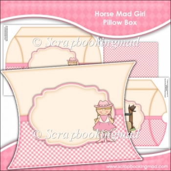 Horse Mad Girl Pillow Box EXTRA LARGE