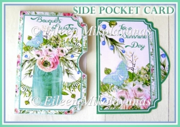 Bouquets of Wishes Side Opening Poeckt Card with Insert