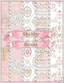 Shabby Roses Watercolor Backing Background Papers