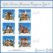 Little Winter Houses Toppers Set 1