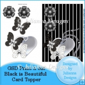 GSD PNC Black is Beautiful Card Topper/Front Cutting File