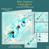 Blue Poppies - 3-Sheet Mini-Kit