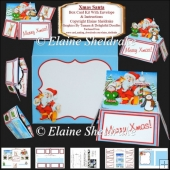 Xmas Santa Box Card Kit With Envelope & Instructions