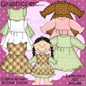 Dress-up Dolls Girls Clothes Pack 2