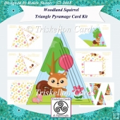 Woodland Squirrel Triangle Shaped Pyramage Card Kit