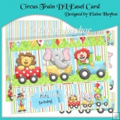 Circus Train DL Easel Card