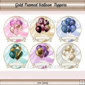 Gold Framed Balloon Toppers