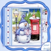 Sketchy Snowman & Postbox Christmas 7.5 Decoupage & Insert Kit
