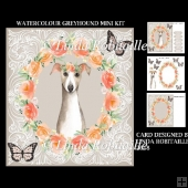 Watercolour Greyhound Mini Kit