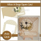 White & Beige Flower Card