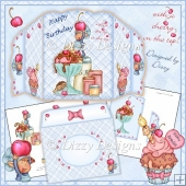 With A Cherry on the Top! - Four Fold Birthday Card