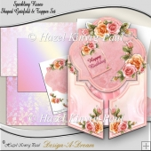 Sparkling Roses Shaped Gatefold & Topper Set