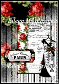 French Couture Feminine Paris A4 Card Front