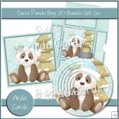 Santa Panda Boy 3D Bauble Gift Set