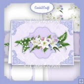 Lily Purple landscape card set