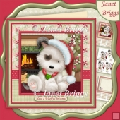 HAVE A WOOFLY CHRISTMAS 8x8 Decoupage & Insert Mini Kit
