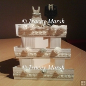 Wedding Cake Card Template and Box