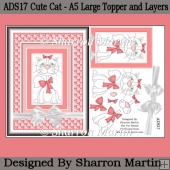 ADS17 Cute Cat - A5 Large Topper and Layers