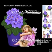 Flower Pot Fairy Shaped Card