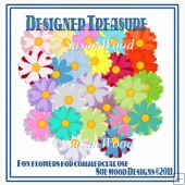 Designer Treasure Fun Flowers Card Makers Resource
