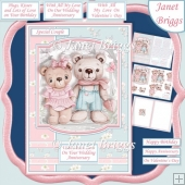 BEARY SPECIAL COUPLE A5 Decoupage Card Kit