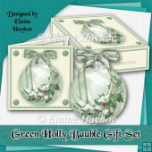 Green Holly Bauble Gift Set