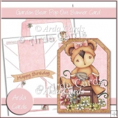 Garden Bear Pop Out Banner Card