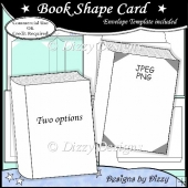 Book Shape Card Template