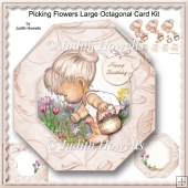 Picking Flowers Large Octagonal Card Kit