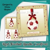 Red Football Bauble Cardfront