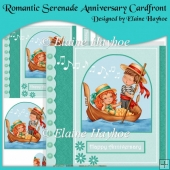 Romantic Serenade Anniversary Cardfront with Pyramage