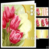Pink Tulips Spring Flowers Mini Kit